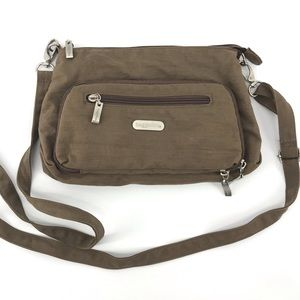 Baggallini Brown Zippered Crossbody Purse